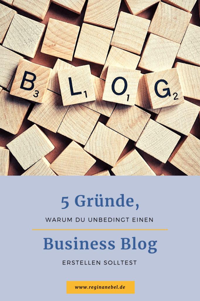5 Gründe, warum du einen Business Blog erstellen solltest - Beitragsbild