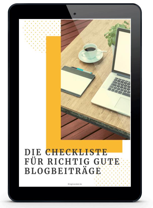 Checkliste für richtig gute Blogbeiträge - Virtuelle Assistenz - Feebie