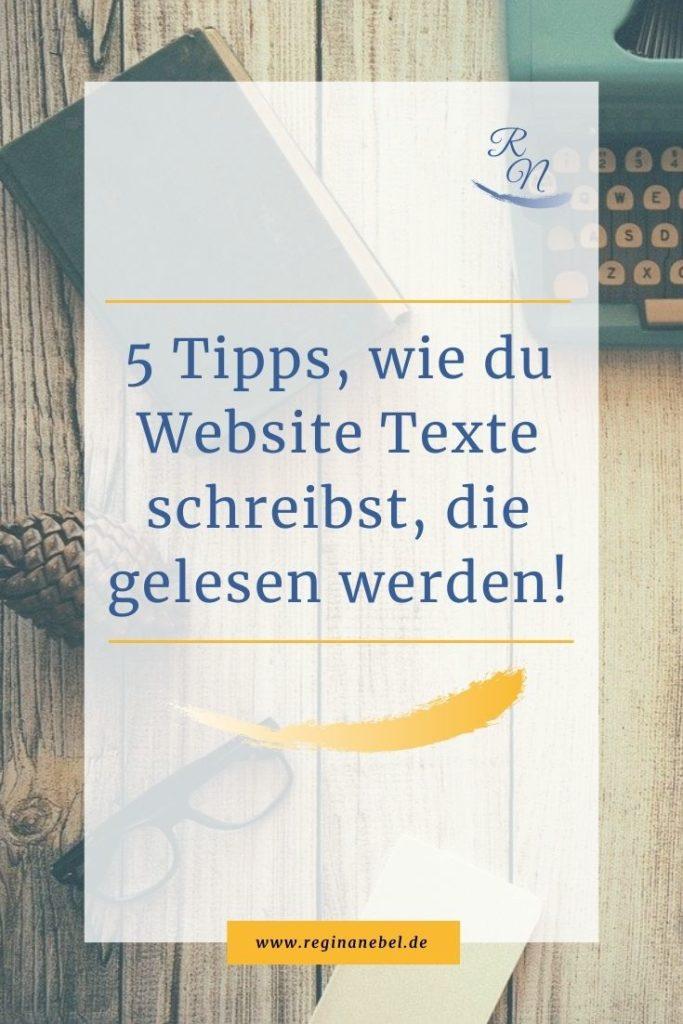 5 Tipps, wie du Website Texte schreibst, die gelesen werden