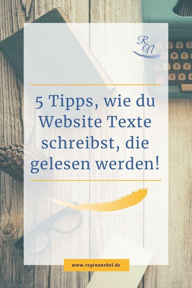 Read more about the article 5 Tipps, wie du Website Texte schreibst, die gelesen werden!