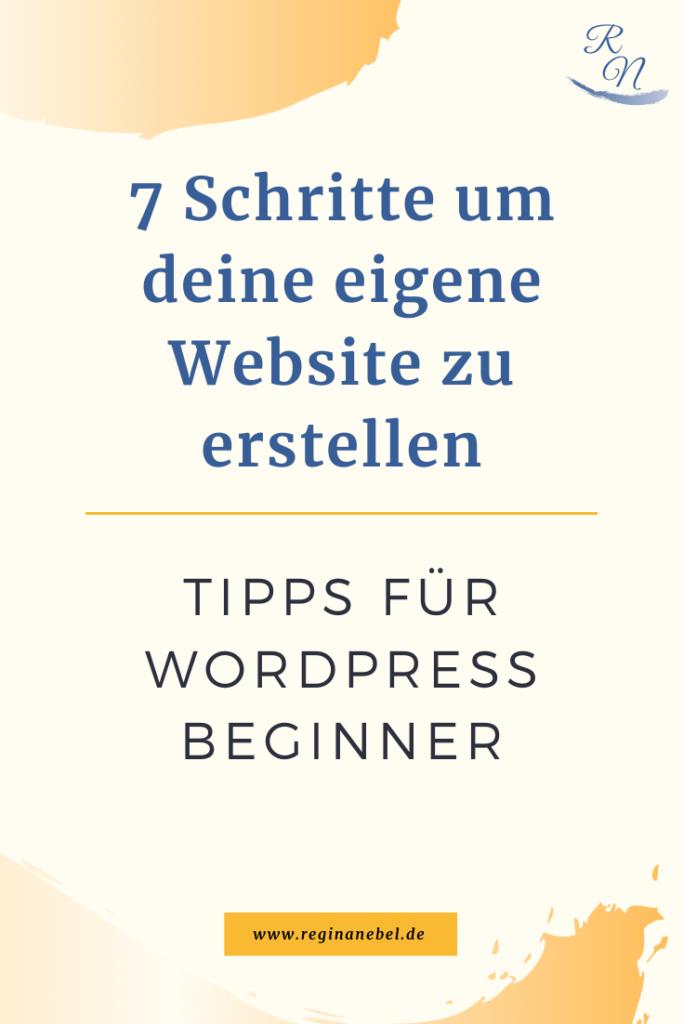 Wordpress Website erstellen - Regina Nebel