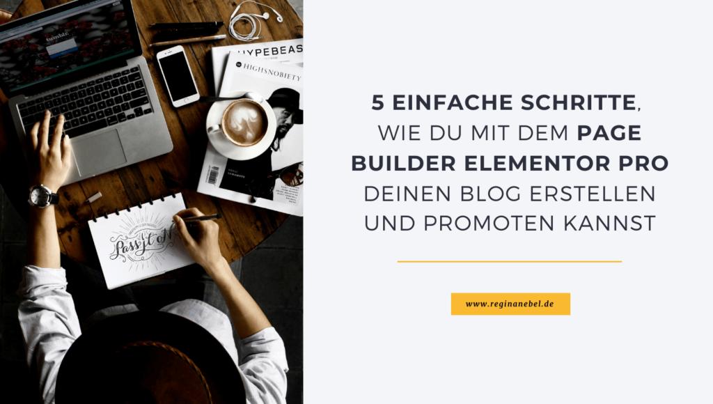 Page Builder Elementor Pro für Blog